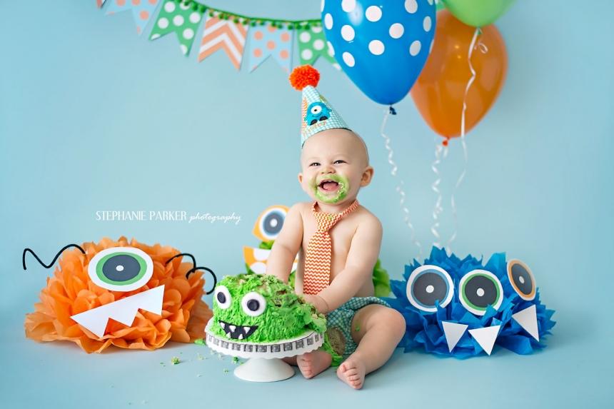 St Birthday Smash Cake Boy