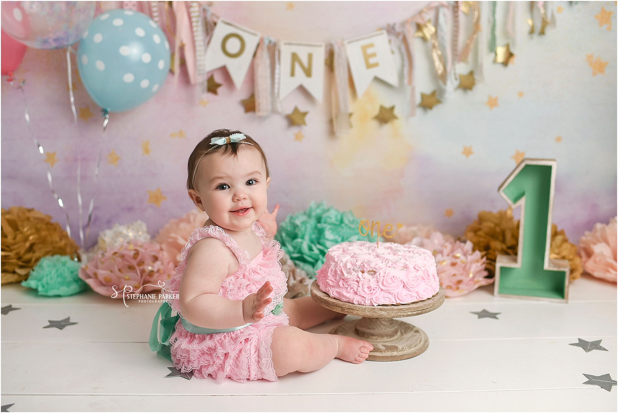 Pleasing Peytons 1St Birthday Cake Smash Session Newborn Family Wedding Personalised Birthday Cards Beptaeletsinfo